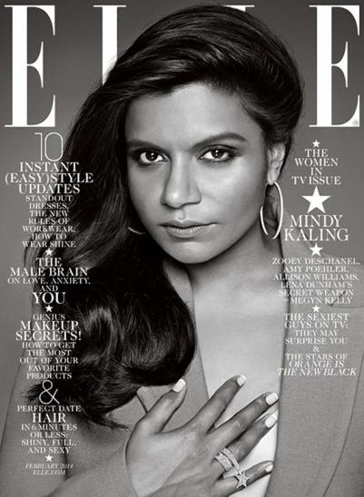 Mindy Kaling for Elle, February 2014