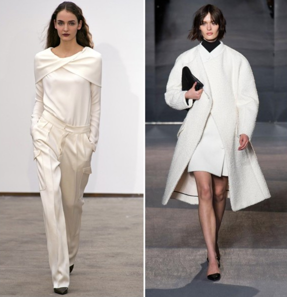 From Left: Model in Derek Lam F/W '13; Model in Proenza Schouler F/W '13