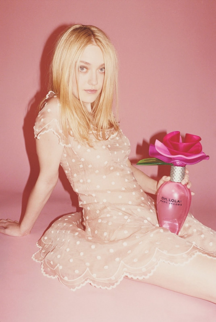 A controversial Marc Jacobs ad featuring actress Dakota Fanning, 2011 (Via Movieline)