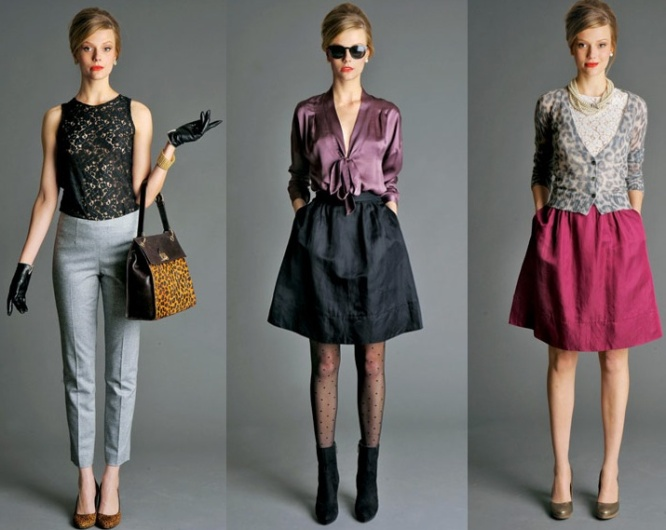Looks from the Mad Men by Banana Republic Collection