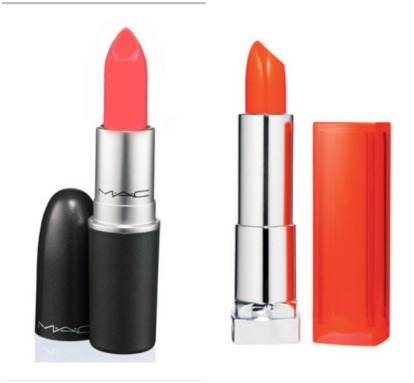 From left: MAC Vegas Volt, Maybelline Color Sensational in Electric Orange