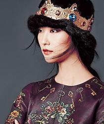 dolce-gabbana-2014-2015-fall-autumn-winter-fashion-womens-baroque-flowers-jacquard-brocade-keys-skirt-embroidery-dress-laser-cut-lace-knit-coat-gown-grid