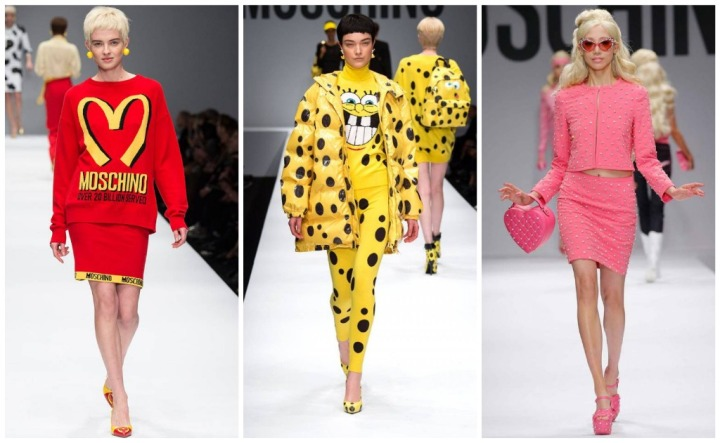 Looks from Moschino F/W 2014 and S/S 2015