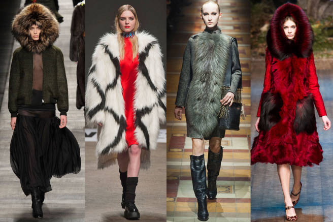 From left: Fendi, Vfiles, Lanvin, Dolce & Gabbana (Via Elle.com)