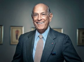 Oscar de la Renta at his fashion show at Neiman Marcus-  Chevy C
