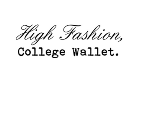 High Fashion, College Wallet: A.P.C. F/W2015
