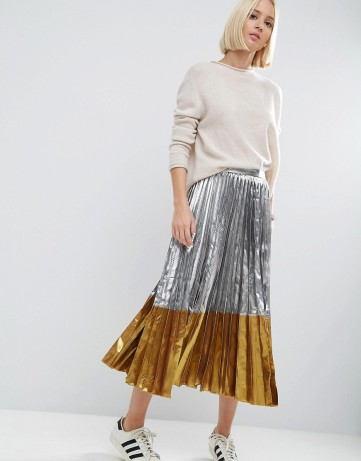 Metallic Maxi Skirt from asos.com / $42.50