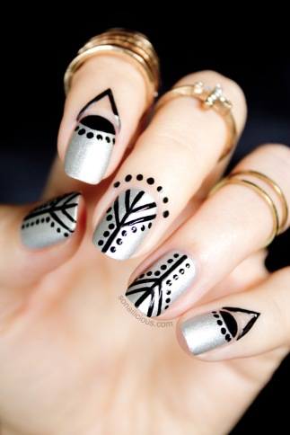 silver-and-black-nails-cuticle-nail-art-1